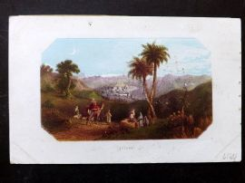 Thomson Holy Land 1863 Antique Print. Bethany, Israel